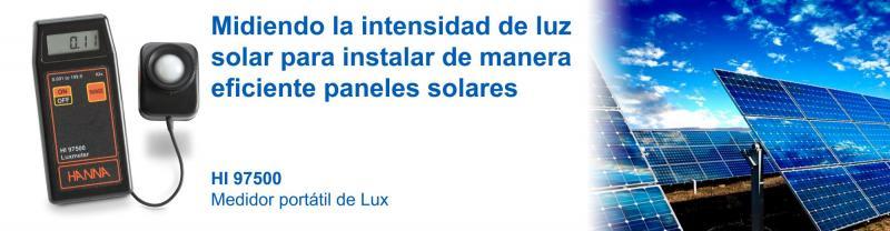 Midiendo La Intensidad De Luz Solar Para Instalar De Manera Eficiente Paneles Solares Hanna Instruments Colombia